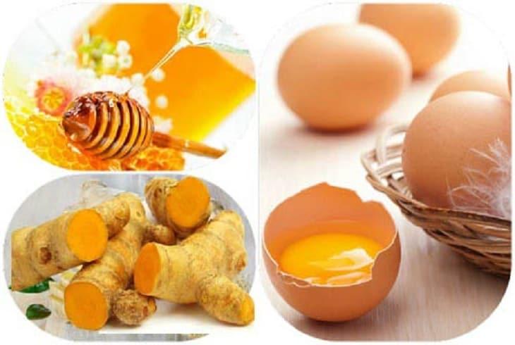 Bài thuốc nghệ ngâm mật ong trứng gà