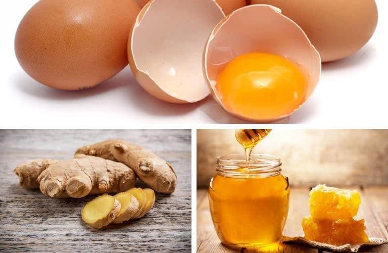 Gừng mật ong trứng gà