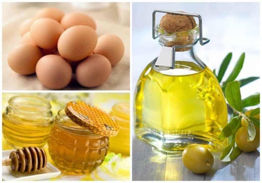 Tắm trắng bằng mật ong và trứng gà với dầu oliu