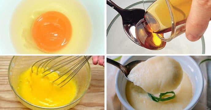 trứng gà sữa đặc mật ong