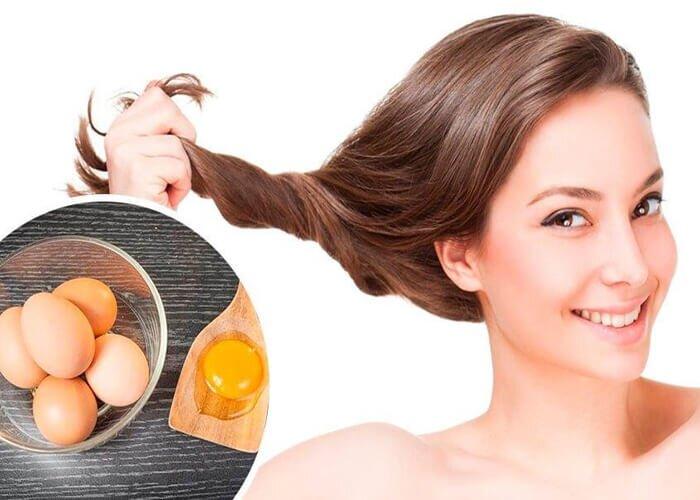 ủ tóc bằng trứng gà và mật ong
